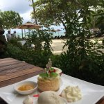 Restaurant at the beach. Delicious food, wonderfully presented.