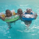 Swimming with kiddos