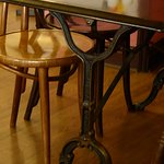 All the tables appeared to be up-cycled