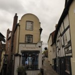 Quaint buildings this leads up to the funicular railway and Castle circular walk.