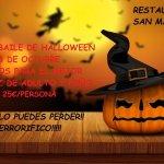 Cena de Halloween en el Restaurante San Martiño, no te lo puedes perder, será una noche terroríf