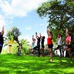 Jardin et cours de yoga