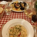 Fantastic seafood risotto and pasta!