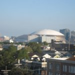 View of the Super Dome from our room