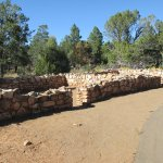 Pueblo ruins on Rim Trail