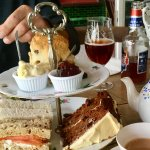 This was our cream tea/lunch - extremely yummy 😋