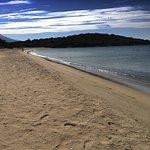 Beach deserted in October