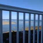 Balcony view, low tide