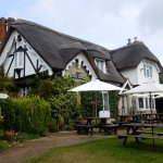 Vernon Cottage has a dog friendly garden with undercovered seating areas