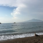 You can see Mt Vesuvius