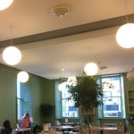 Bright airy cafe room