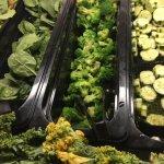 Salad bar, broccoli looked like it had been frozen, but it tasted okay