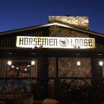 Outside entrance of the Horsemen Logde