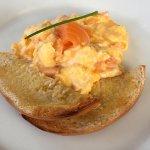 Smoked Salmon, scrambled eggs.