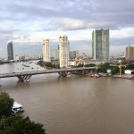 View of Chao Phraya river from our room