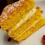 Triple Lemon layer sponge cake