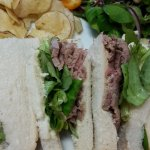 Beef and watercress sandwich