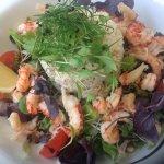 Large cornish crab and crayfish tail salad