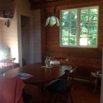 Dining area in cottage.