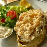 Jersey Crab with Salad (very generous, seemed like more than one carb here)