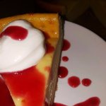 New York style Ricotta Cheesecake with Thirsty Dog Brewing Co. Raspberry Ale Raspberry Sauce!