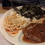 Country Fried Steak w/ Greens and Beans