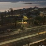 Seaview from room 402, at 5:45 am before going to climb Masada.