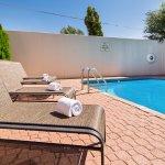 Cool down in a seasonal swimming pool