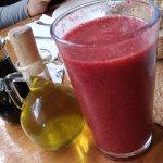 Agua de Fresa con Frambuesa