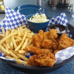 Boneless Wings, Fries and Slaw