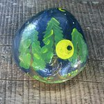 We loved finding painted stones around the site