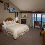 This is a cliffside room on the second floor