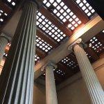 The Parthenon replica in Nashville's Centennial Park. Inside is Athena and a quaint art museum.