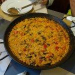paella de arroz de verduras ( de gusto impresionante y ademas apta para celiacos !!!!