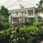 Beautiful grounds with conservatory, indoor botanical gardens, waterfalls, fountains, bridges, i