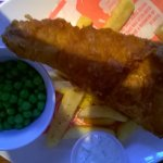 This is meant to be a LARGE haddock and chips.