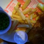 I hadn't eaten any off my LARGE Haddock and chips before I took the picture.
