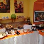 Breakfast buffet: lovely fresh cakes