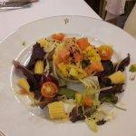 Salade de saumon et petits légumes