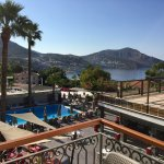 View from our balcony across the hotel with Kalkan harbour in the background.