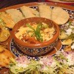 Assorted Mexican appetizer platter