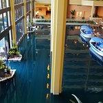 Inside main lobby - boat ride area