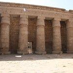 Totentempel des Ramses III. in Medinet Habu Foto