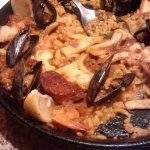 The picture is the Paella Bomba.