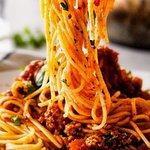 Tradicional espaghetti a la bolognesa!
