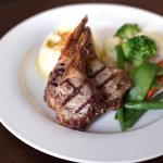 Lamb chops & vegetables - Food from the Heart menu