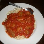 Pasta with sausage meat sauce