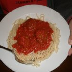 Pasta with Meatball meat sauce