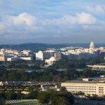 Hotel view of Washington DC
