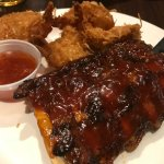 Ribs and coconut shrimp